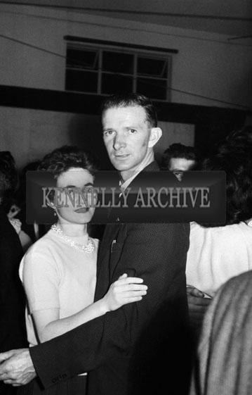 3rd November 1964; People enjoy themselves at a Muintir na Tíre dance in Milltown.