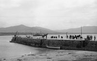 1953; A Photo Of People And Horses On Valentia Pier.