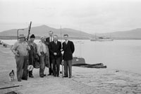 1953; A Photo Of Fishermen Posing For The Camera At Valentia Pier.