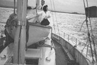 1953; Norman Ross (centre) Enjoying A Boat Trip Off Valentia Island.
