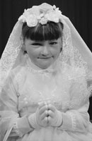 Studio Photo Of A Communion Girl