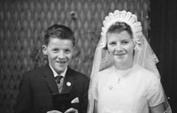 1953; A Studio Photo Of A Confirmation Boy And Girl.