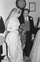 April 1957; A photo taken at Ulick O'Sullivan's wedding in Castleisland Church.