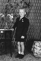 27th June 1964; A Boy Posing For The Camera on His Communion Day.