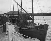 Skipper Christy O'Shea and his boat 'Ros Airgead'