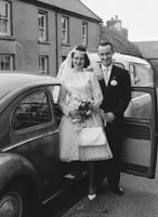 June 1964; A Photo taken of a couple on their Wedding Day in Castlegregory.
