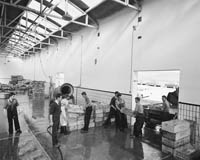 July 1964; A photo of workers in Renard Rainbow Fish storing plant in Caherciveen.