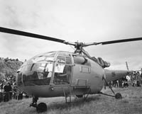 An Air Corps Helicopter at Fenit Festival