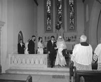 28th July 1964; A photo taken at the double wedding of the Carmody sisters in St Brendan's Church, Ardfert.