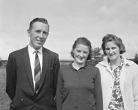 September 1964; A photo of the Daly family outside their home.
