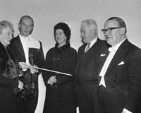 30th October 1964; Members of Tralee Orchestral Society during a visit to Tralee by The London String Quartet.