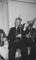 16th January 1964; A photo of a musician performing at the Lixnaw Social in the Meadowlands Hotel, Tralee.