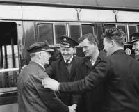 CIE Staff in Casement Station in Tralee