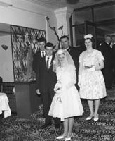 April 1964; A wedding reception in the Listowel Arms Hotel.