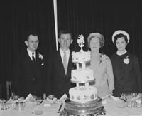 April 1964; A photo taken at the wedding reception of National School Teacher Noreen Dowling, Ballymacelligott, in the International Hotel, Killarney.