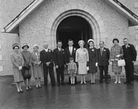 April 1964; A photo taken at the wedding of National School Teacher Noreen Dowling in Clogher Church, Ballymacelligott.