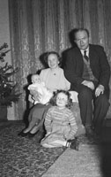 December 1953; Mr. & Mrs Fitzmaurice With Their Children At Home During Christmas.